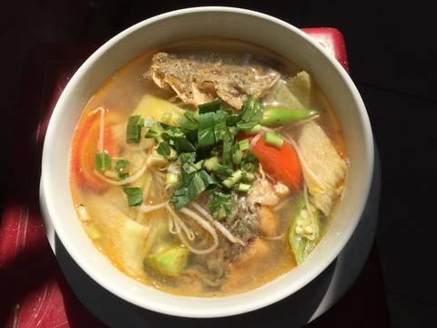 Canh chua cá chẽm recipe step 5 photo