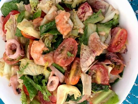 Salad hải sản recipe step 7 photo