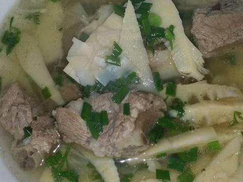 Canh sườn nấu măng recipe step 5 photo