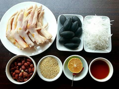 Gỏi trám đen chân vịt rút xương recipe step 1 photo