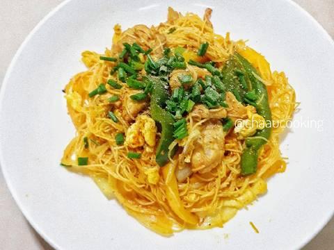 Bún xào Singapore (vị cà ri) recipe step 9 photo