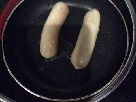 Xúc xích chiên recipe step 2 photo
