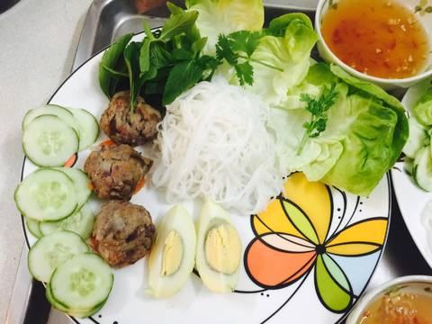 Bún thịt củ từ, khoai lang tím recipe step 16 photo