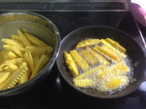 Khoai lang lắc phô mai recipe step 3 photo