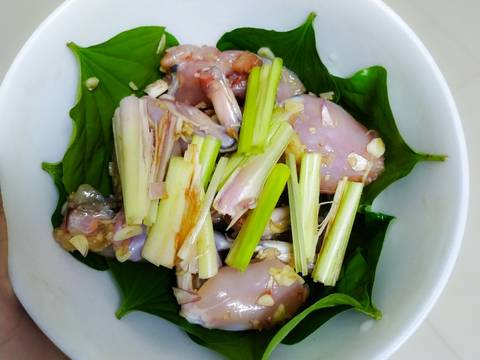 Ếch hấp sả recipe step 3 photo