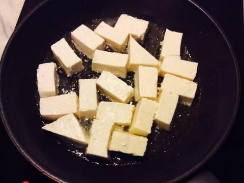 Nấm xào cải thìa với đậu phụ recipe step 3 photo