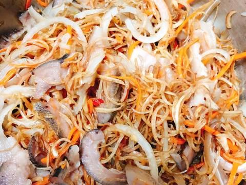 Gỏi Bắp Chuối Thịt Tai Đầu Heo recipe step 5 photo