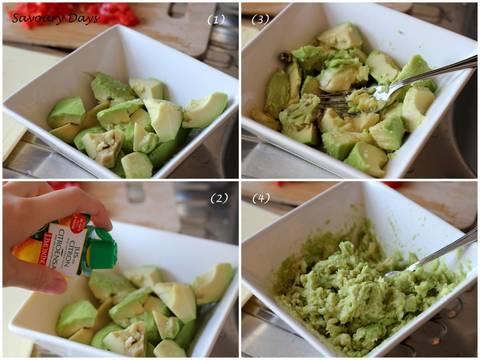 Salad quả bơ Mexico (Guacamole ) recipe step 3 photo
