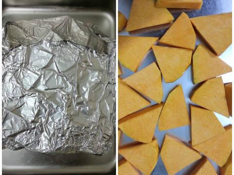 Bánh bông lan bí đỏ và quả khô recipe step 1 photo