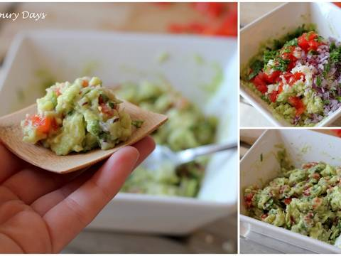 Salad quả bơ Mexico (Guacamole ) recipe step 4 photo