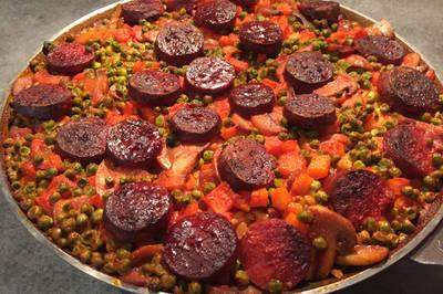 Paella au chorizo