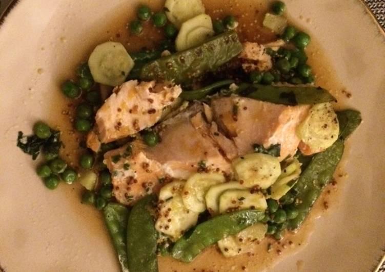 Recette papillote de saumon aux pois gourmand xrecettes - Cuisiner des pois gourmands ...