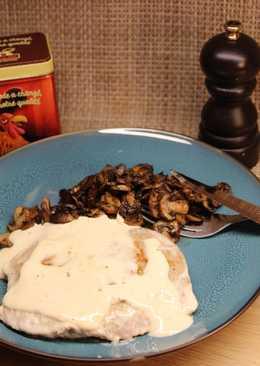 Bavette de veau à la crème et champignons citronnés