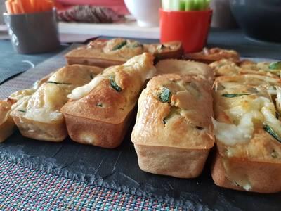 Cake courgette mozza