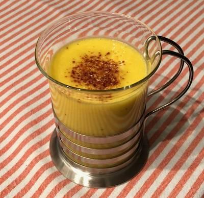 Soupe de maïs au piment d'Espelette