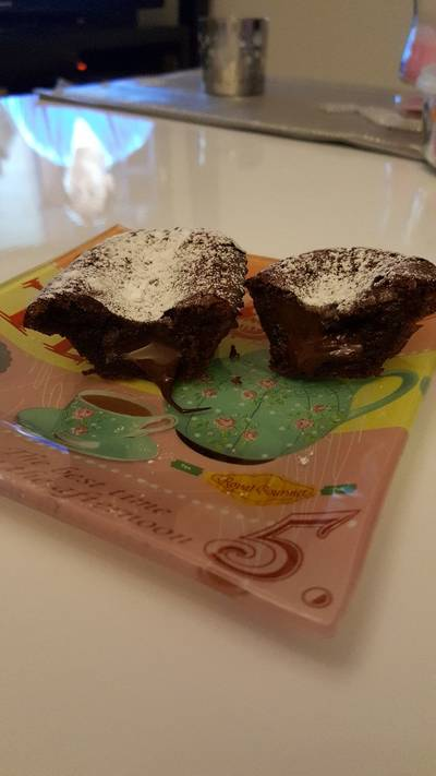 Fondants au chocolat individuels