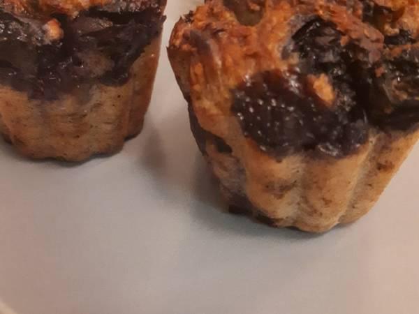 Mini muffins façon banana bread aux myrtilles et graines de courge