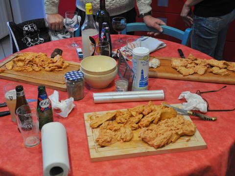 Foie gras de canard au torchon (avec truffes pour ceux qui ont eu la chance d'être passés au marché de Sainte-Alvère dans le Périgord !)