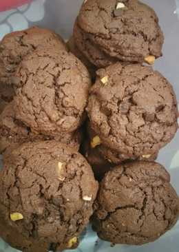 Easy double chocolate chips cookies