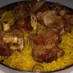 صورة لوصفة كبسة اللحم ثلاث طبقات لذيذة 😊
