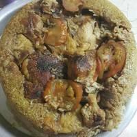 مقلوبة الباذنجان مع الدجاج