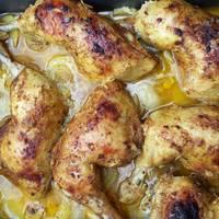 افخاد الدجاج بلعسل والبرتقال