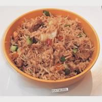 الرز الصيني بالخضار والربيان