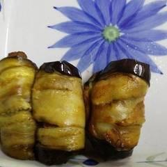 صورة لوصفة #اطباق رمضانية لفائف الباذنجان مع اللحمة😍
