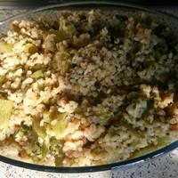البرغل بالكوسا (أبو شلهوب) طبق سوري أصيل