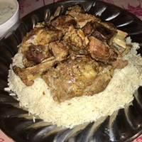 لحم على الرز