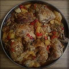 صورة لوصفة #نجم-العزايم صينيه بطاطا مع دجاج