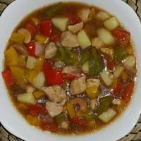 دجاج صيني بالكاجو