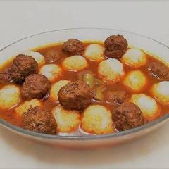 صورة لوصفة كفتة داوود باشا وأرز بشعيرية