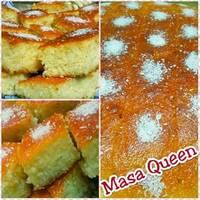 الكيكة الأسبانية بالسميد وجوز الهند 🥥