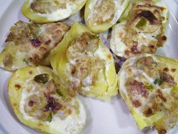 قوارب البطاطس بالتونة 😍