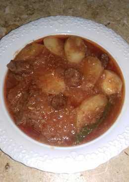 صينيه بطاطس باللحمه