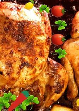 دجاج مشوي بالفرن بالاكياس الحرارية
