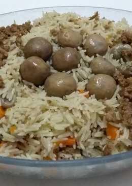 أرز بالفول مع الفطر والجزر