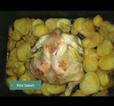 صينيه دجاج وبطاطا