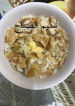 خبز محمص باللبن والعسل