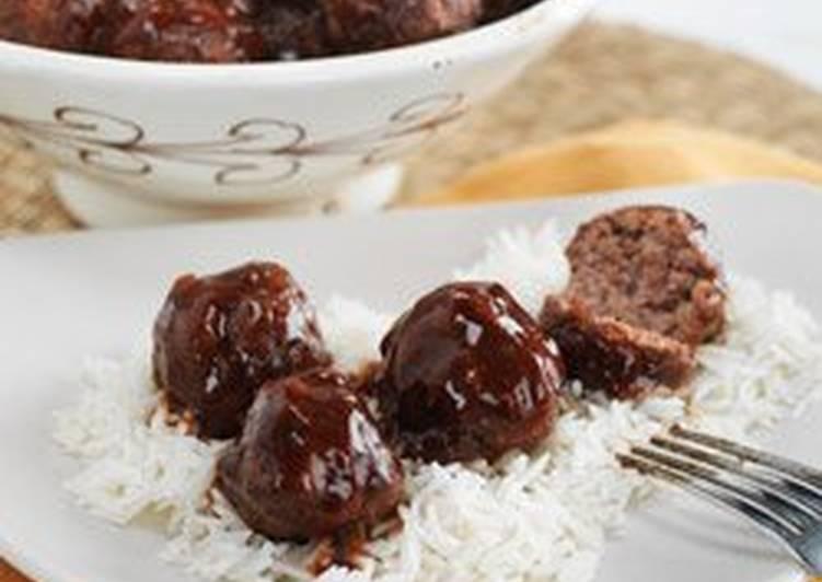 طريقة كرات اللحم صلصة الشواء