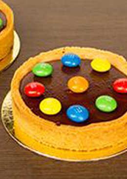 طريقة عمل تارت الشوكولاتة بالألوان