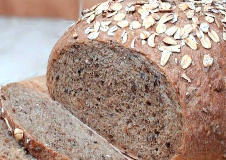 طريقة عمل الخبز الاسمر بالحبوب