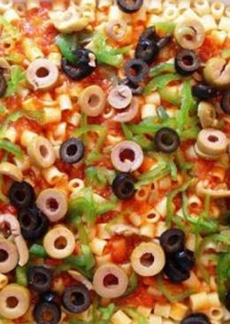 مكرونة البيتزا بطريقتي
