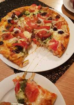 # اكلات_ماما بيتزا الخضار