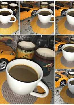 قهوة تركيه بالحليب والهيل بطريقتي ☕️