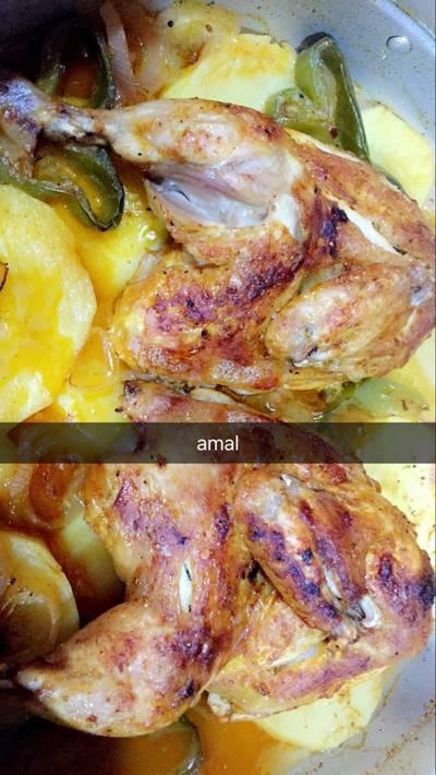 صينية دجاج بالبطاطس