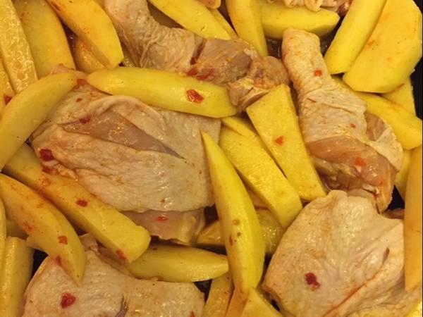 #غداء -سريع صينية دجاج وبطاطا