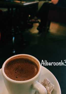 قهوة تركية بالوجه ☕️