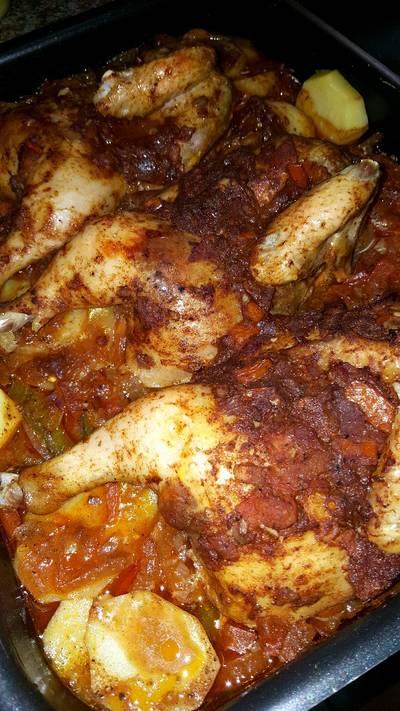 صينية بطاطس بالدجاج